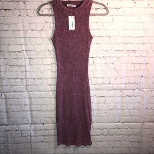 Distressed Burgundy bodycon Dress